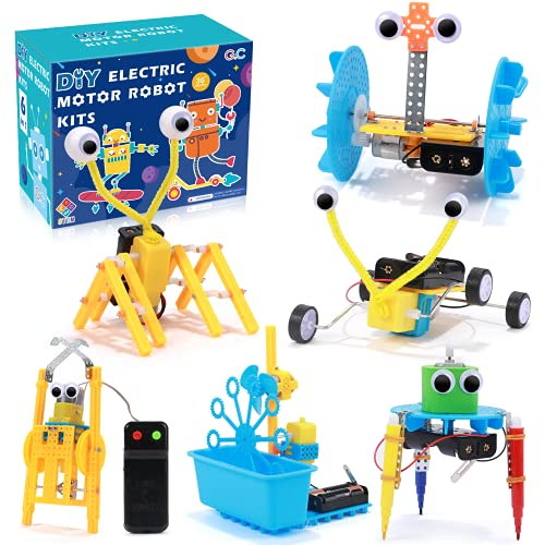 vamei 6 in 1 STEM Roboterspielzeug Roboter Bausatz Set Kinder Robot...