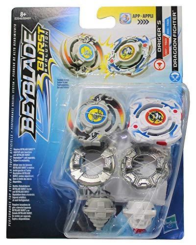 Beyblade Hasbro Burst Let it Rip! Kreisel 2er Set Dual Pack, für Kinder, Jungen und Mädchen (Driger S &...