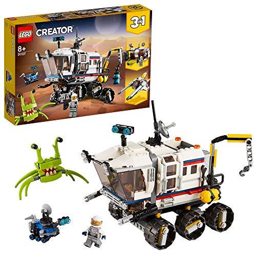 LEGO 31107 Creator 3-in-1 Planeten Erkundungs-Rover, Raumstation und Weltraumflieger Bauset,...
