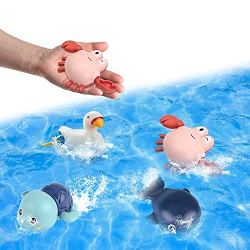 Badewanne Spielzeug Baby, Wasserspielzeug Badewanne, 4PC Badespielzeug...