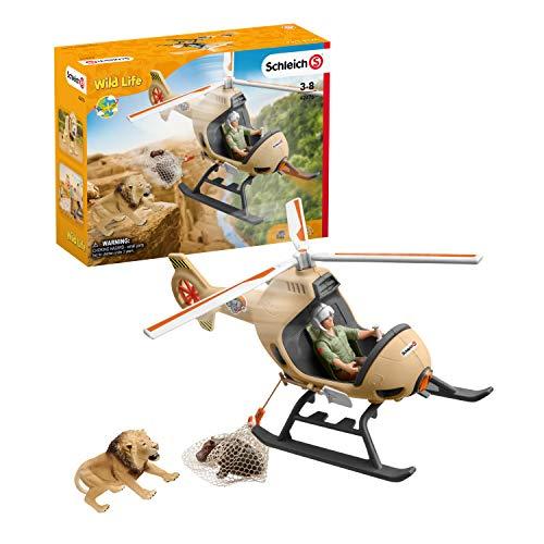 Schleich 42476 Wild Life Spielset - Helikopter Tierrettung, Spielzeug...