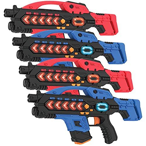 Lasertag Set mit 4 KidsFun Plus Lasertag Waffen - KidsFun Plus...