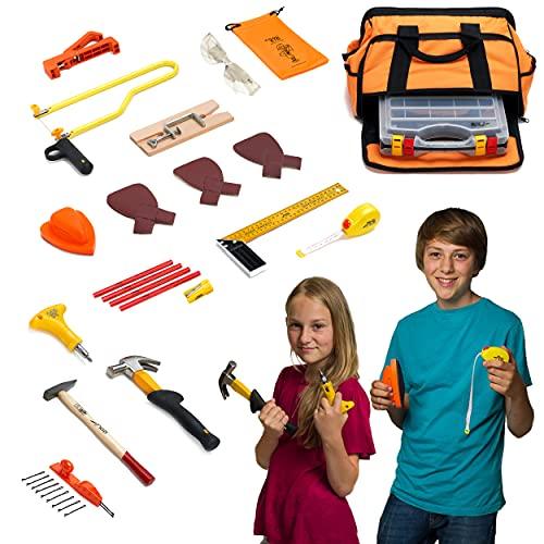 ToolKid™ 16-teiliges Werkzeugset mit Laubsäge - Hochwertiges,...