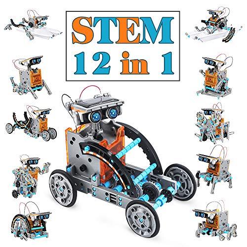 TOYSTD STEM Spielzeug Junge 8-12 Jahre Solar Roboter Spielzeug 12-in-1 Science Kit Geschenk Junge 8+ jahre-199...