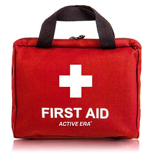 Erste Hilfe Set - 90-teiliges Premium Erste-Hilfe-Set - enthält Sofort Kühlpacks, Augenspülung,...