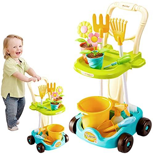 LINFUN KIDS Kinder Gartenwerkzeug Gartengeräte Set, Sandspielzeug...