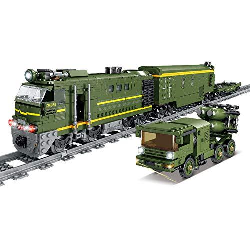 IIKA Adventskalender Zug Track Set DIY Baustein Modell Lokomotive Zug...