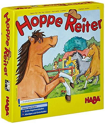 Haba 4321 - Hoppe Reiter Pferdestarkes Wettlaufspiel, für 2-4 Spieler...