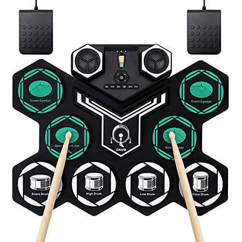 Elektronisches Schlagzeug Kit Unterstützt DTX-Spiel Hand Roll-Up Drum...