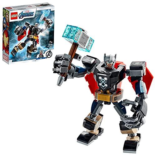 LEGO 76169 Super Heroes Marvel Avengers Thor Mech Set, Actionfigur mit...