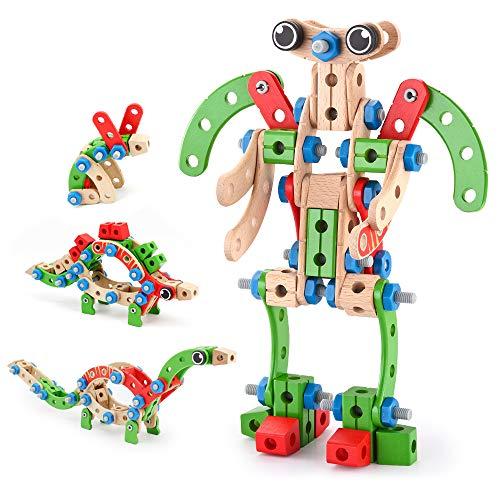 VATOS Holz Konstruktionsspielzeug, Pädagogisches Montessori Spielzeug...
