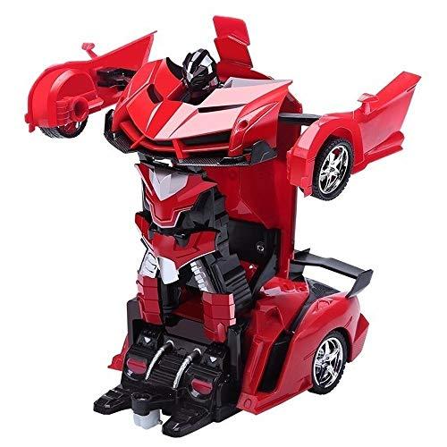 Ycco 1/18 Scale RC Autobot Trans Auto-Roboter Red Interessante Kinderspielzeugauto elektronische Fernbedienung...