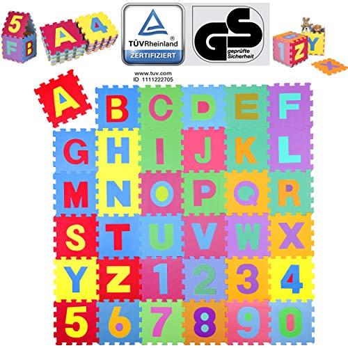 KIDUKU® 86 teilige Puzzlematte TÜV Rheinland geprüft - Kinderspielteppich, Spielmatte, Spielteppich für...