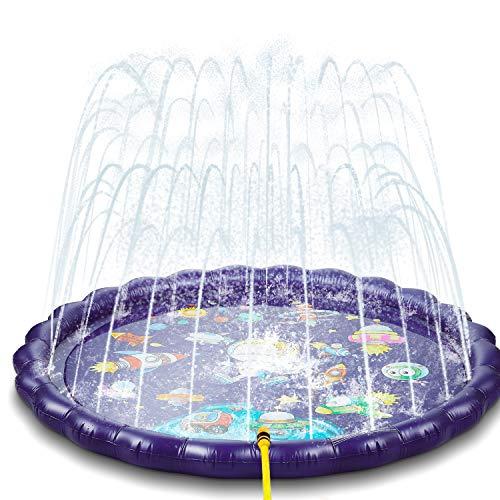 NextX Splash Pad Sprinkler 170cm, Wasser Sprinkler Matte/Sommer Garten Wasserpielzeug Outdoor, Pool Party Pad...