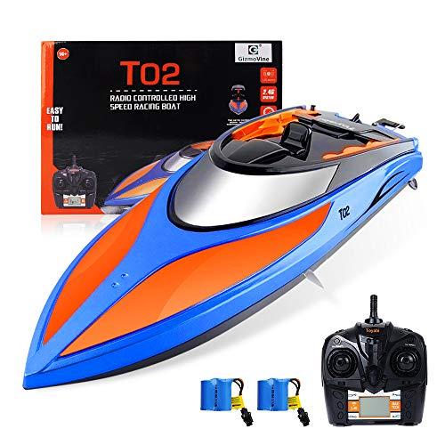 E T RC Boot Ferngesteuertes Boot 2,4GHz 20MPH High Speed Boot mit Kapsel Standard Funktion Fernbedienung...