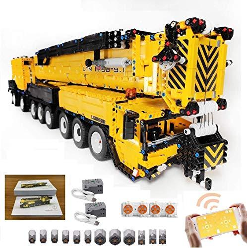 TETAKE Technik Liebherr Kran mit 12 Motoren, 1:20 2.4G Ferngesteuert Kranwagen Modellbausatz mit 7668 Teilen,...