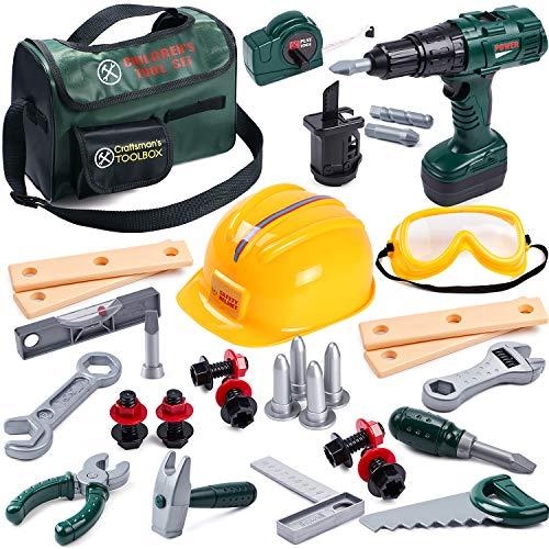 Toyssa 32Stk. Kinder Werkzeug Spielzeug Set...