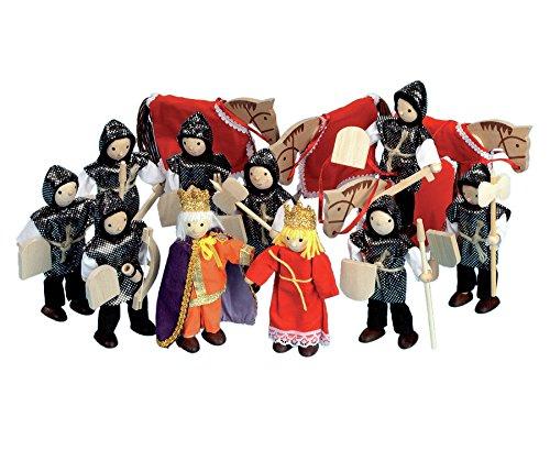 Betzold - Ritter-Set mit Box - Biegepüppchen Spielfiguren Holzfiguren... *