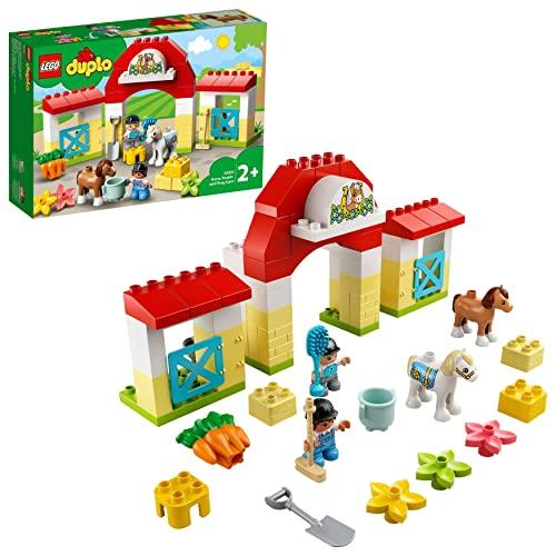 LEGO 10951 DUPLO Pferdestall und Ponypflege Kleinkinder Spielzeug ab 2...