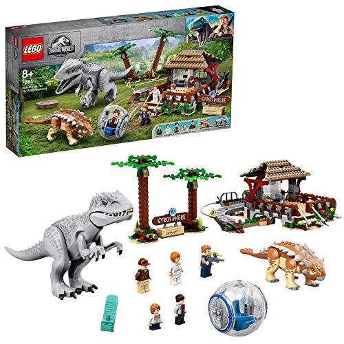 LEGO 75941 Jurassic World Indominus Rex vs. Ankylosaurus Dinosaurier-Set mit Gyrosphäre