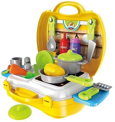 Brigamo to go im Koffer Spielzeugset, Spielzeug Küche Kinderküche...