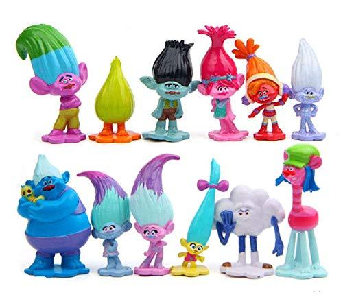Trolls, 12 pcs Spielset mit Poppy, Kuchendekorationen Troll Figuren...
