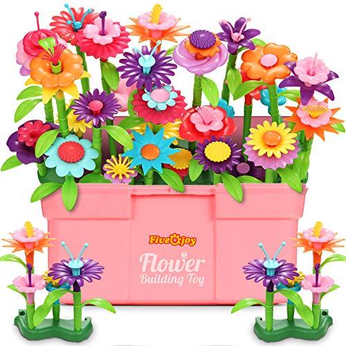 Fivejoy Blumengarten Spielzeug Für Mädchen 134PCS, DIY Bouquet Set...