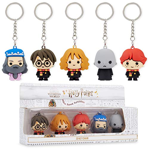 Harry Potter Schlüsselanhänger, 5 Verschiedene 3D Figuren,...