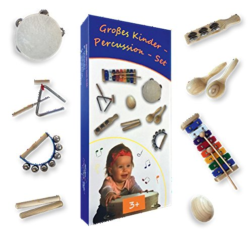 Großes Kinder-Percussion-Set,hochwertige Kinder Instrumente aus Holz,...