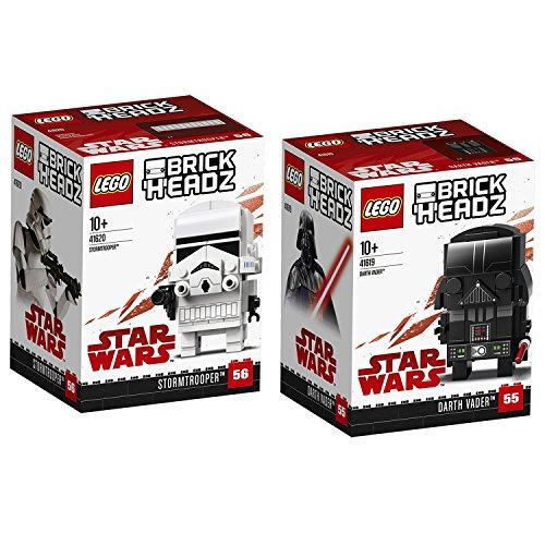 Lego Star Wars Brickheadz 2er Set 41619 41620 Darth Vader +...