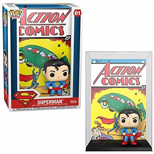 Funko 50468 POP Vinyl Cover: DC-Superman Action Comic Comics, No Color