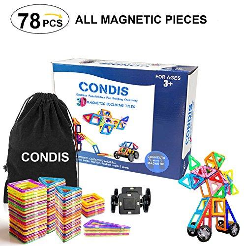 Condis Magnetische Bausteine, Magnetspielzeug Magnete Kinder Magnetbausteine Magnet Spielzeug Kinder...