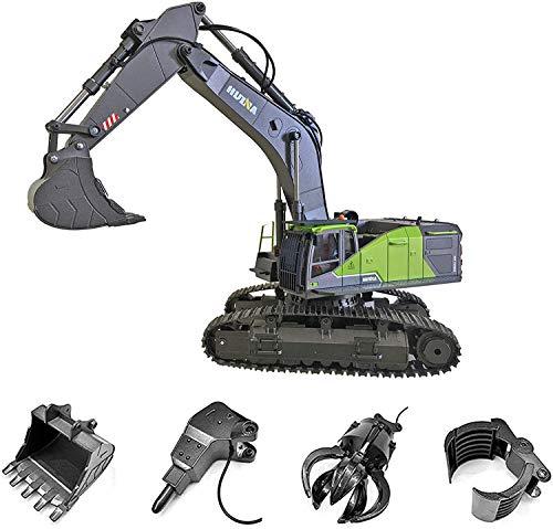 s-idee® S1593 + 3 Aufsätze Ferngesteuerter Kettenbagger 1593 mit...