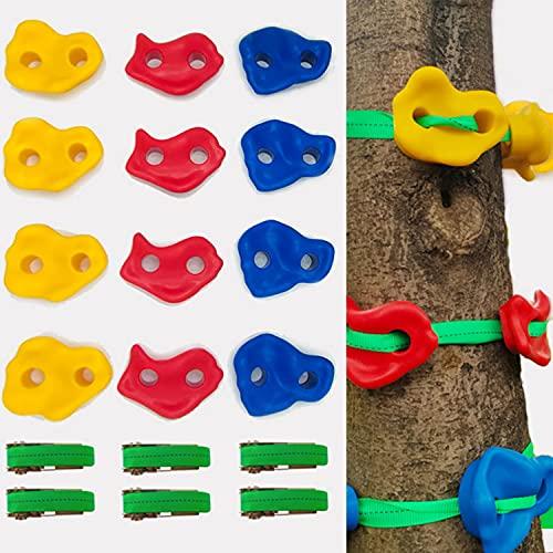 Klettersteine Baum Kletter Set 12/18 Baumklettergriffe Klettergriffe...