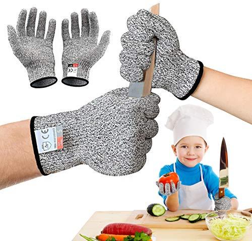 GUBOOM Schnitzhandschuh Kinder, Schnittfeste Handschuhe...