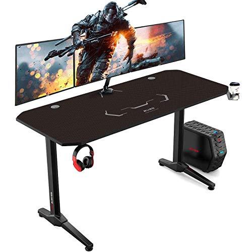 AuAg Gaming Tisch 140 cm, Groß Gaming Schreibtisch for...