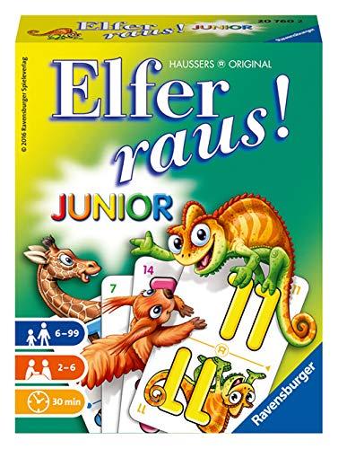 Ravensburger - 20760 Elfer Raus! Junior - Gesellschaftsspiel für 2-6...