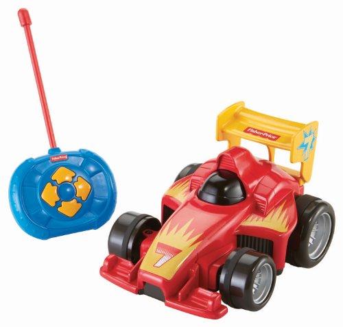 Fisher-Price BHX87 - Fernlenkflitzer, ferngesteuertes Auto, Motorikspielzeug mit Fernbedienung, rot, Kinder...