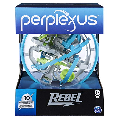 Spin Master Games 6053147 - Perplexus Rebel, 3D-Labyrinth mit 70 Hindernissen