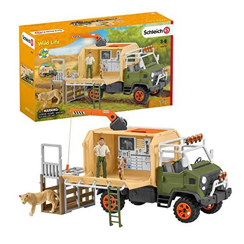 Schleich 42475 Wild Life Spielset - Großer Truck Tierrettung,...
