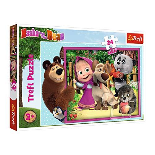 Trefl 14301 Mascha und der Bär, Masha and the Bear 24 Maxiteile, für...