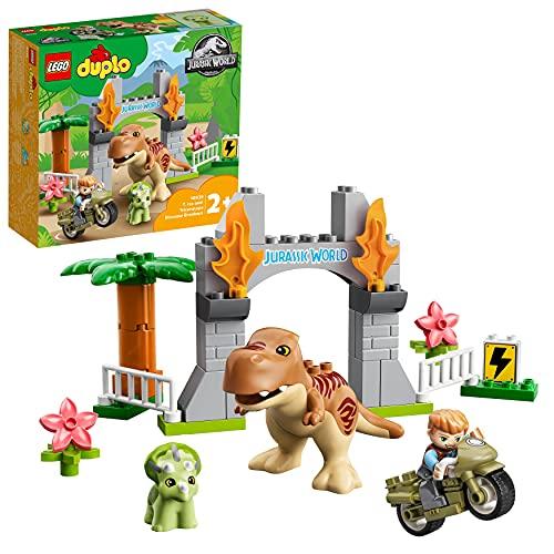 LEGO 10939 DUPLO Jurassic World Ausbruch des T-Rex und Triceratops,...