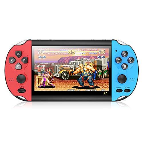 ZSDD Mini-Handheld-Spielekonsole X1 4. 3-Zoll-Spielekonsole Klassische Dual-Shake-Spielekonsole 8G Integrierte...