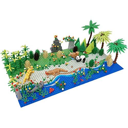 SDUK Bauplatte mit Tiere und Pflanze, 468 Teile Tropischer Flussufer...
