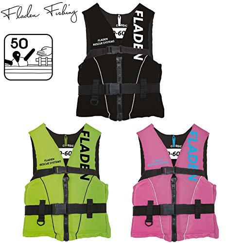 Fladen Fishing Rescue System Schwimmweste/Rettungsweste - Kinder & Erwachsene - Schwarz/Grün/Pink (Schwarz, L...
