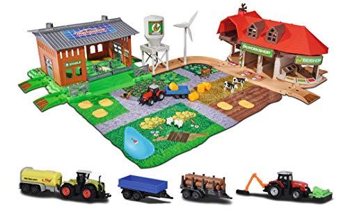 Majorette 212050009 Creatix Big Farm Set, Bauernhof-Spielset inkl. 3...