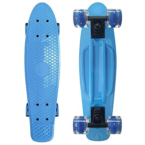 WYYUE Skateboard, 22'' Komplette Mini Cruiser Skateboard für Kinder...