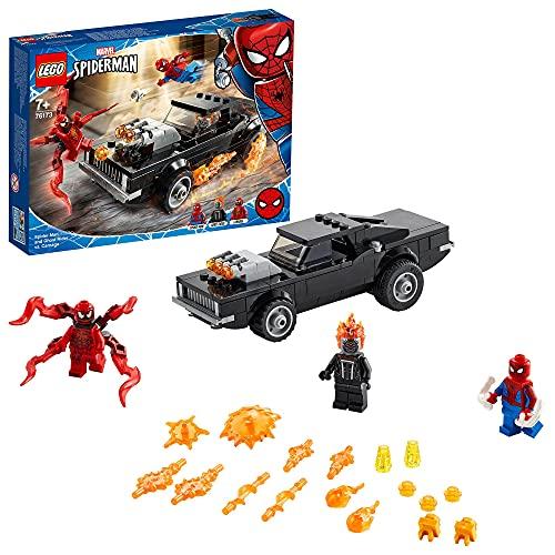LEGO 76173 Spider-Man und Ghost Rider vs. Carnage mit Spielzeugauto...