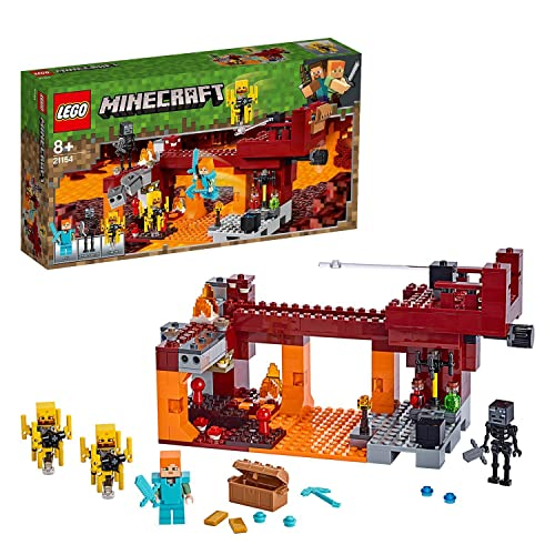 LEGO 21154 Minecraft Die Brücke, Bauset mit Alex-Minifigur,...