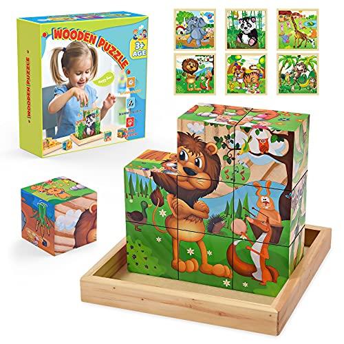 Spielzeug ab 2 3 4 5 6 Jahre Mädchen,Holzpuzzle Geschenk Mädchen...